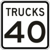 Truck Speed Limit Sign