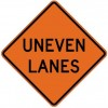 Uneven Lanes Roll-Up Construction Signs