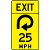 Advisory Speed (Exit) Sign