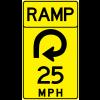 Advisory Speed (Ramp) Sign