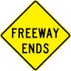 Freeway Ends Sign