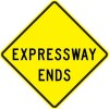 Expressway Ends Sign