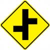Offset Side Roads Left Sign
