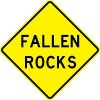 Fallen Rocks Sign