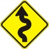 Winding Road Left Sign
