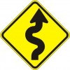 Winding Road Right Sign
