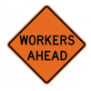 Workers Ahead Sign